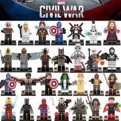 Various Building Blocks Characters Marvel Super Hero Avengers X-Men Captain America Batman - $4.26 -Tag a friend that must get u this! #hot #toys #me #ecofriendlytoys #kidtoys #mind #thankful #toysgraphy #soul #rainbowtoys #abandonedtoys #picoftheday #toyshops #littlepeopletoys #traditionaltoys