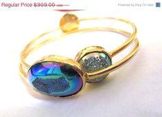 SPRING SALE Titanium agate rainbow druzy by YaronaJewelryDesign, $278.10