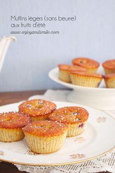 Les muffins d'été parfaits pour rentrer dans son bikini, voici ma recette de muffins légers (sans beurre) aux fruits d'été