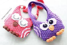 """Crochet Pattern: children´s bag """"Owl"""""""