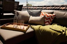 Sophie and Dale's rooftop terrace and study