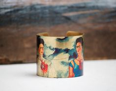 The Two Fridas BRACELET Frida Kahlo Art by redtruckdesigns on Etsy