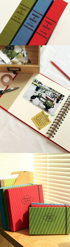 Keep the special moments and memories in the Moment & Memory Scrapbook so they are never forgotten! This well made and versatile scrapbook is perfect as a scrapbook, travel journal, recipe book, sketch book and photo album!