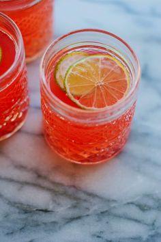 my darling lemon thyme: rhubarb + ginger fizz | my darling lemon thyme.