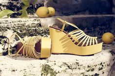#summer #yellow #shoes #fashion #castaner
