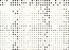 Herman de Vries, random colour dot fields (v74-30s), 1974