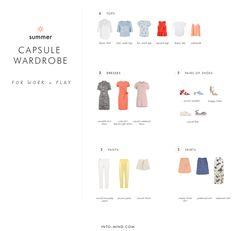 Summer Capsule Wardrobe for Work and Play