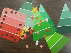 the vintage umbrella  paint chip Christmas tree