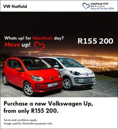 What's Up! this Monday?   Get a new VW Move Up for only R155 200.