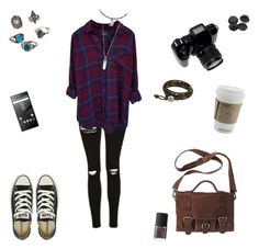 """""""Untitled #20"""" by littlemintchamallow on Polyvore featuring Topshop, Rails, Converse, Sony, NOVICA, Hot Topic, Marc Jacobs, Relic, Mudd and NARS Cosmetics"""