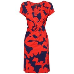 This beautiful jersey dress from Phase Eight features a bold butterfly print across the fabric, a flattering fix wrap front and pleat detail for a flattering f…