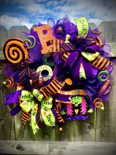 Excited to share this item from my #etsy shop: Halloween Witch Mesh Wreath, Halloween Decor, Witch Sign Wreath, Purple Witch Wreath, Fall Wreath, Mesh Halloween Witch Wreath, Wreath Shop #halloween #wreath #halloweenwitch #witchwreath #handpaintedsigns #purplemeshwreath #boo #witch #google #etsy #wreathdesigner #holidaydecor #chenille #halloweendecor #frontdoor #porch #holidaze #decorations #design #orange #bows #ribbons #shop #gifts