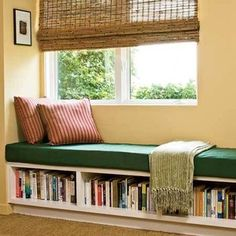 book shelf bench, I'll need tons of space for all the books I'll have!