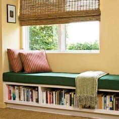 book shelf bench