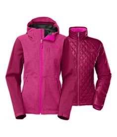 NORTHFACE WOMENS    THERMOBALL   TRICLIMATE JACKET