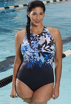 e94622677ec25 One Piece - Aquabelle Reservoir High-Neck Swimsuit Swimsuits For All