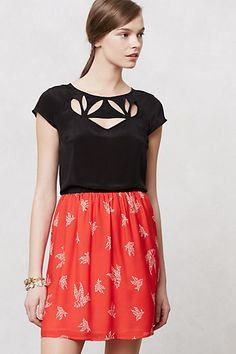 I really love this cut out petal tee.