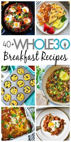 This list is full of delicious and healthy Whole30 recipe and meal ideas to help get you out of your food rut during your Whole30 round! These recipes are simple and easy and are perfect for meal prep! Some are also low carb and keto friendly! #whole30recipes #paleo #paleorecipes #whole30breakfast Whole 30 Breakfast, Sweet Potato Breakfast, Clean Eating Breakfast, Paleo Breakfast, Breakfast Recipes, Breakfast Ideas, Easy Delicious Recipes, Paleo Recipes, Real Food Recipes