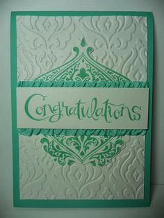 A Fanatical Stamper: Beautifully Baroque Engagement Card