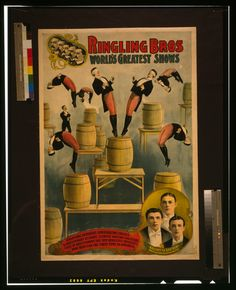 Ringling Bros, world's greatest shows Raschetta brothers, marvelous somersaulting vaulters / / Courier Company Lith. Dept., Buffalo, N.Y.