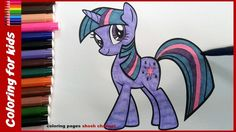 My Little Pony Printable Coloring Pages Twilight Sparkle : My little pony twilight sparkle coloring book mlp coloring
