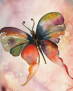 Are you a beginner and want some good idea for painting with watercolor? Here we have some Easy Watercolor Paintings For Beginners Butterfly Painting, Butterfly Watercolor, Easy Watercolor, Butterfly Art, Watercolor Animals, Butterflies, Rainbow Butterfly, Silk Painting, Watercolour Painting
