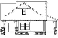 Craftsman Style House Plan - 3 Beds 2.00 Baths 1374 Sq/Ft Plan #17-2450 Exterior - Rear Elevation - Houseplans.com