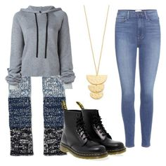 """""""Untitled #7165"""" by bj837101 ❤ liked on Polyvore featuring Sylvia Alexander, Dr. Martens, Unravel, Paige Denim and Gorjana"""