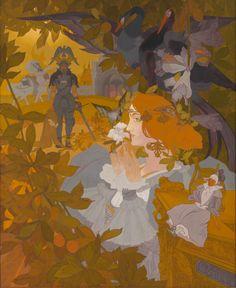 The Best Art Nouveau Works by Georges de Feure images) Antique Art, Vintage Art, Art Nouveau, Water Fairy, Facebook Art, Wonder Book, Academic Art, Children's Picture Books, Children's Book Illustration