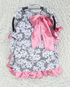 Baby Carrier Cover Canopy Cover Damask Scroll in by BellaBlitz, $64.99 - This has to go with that car seat cover!