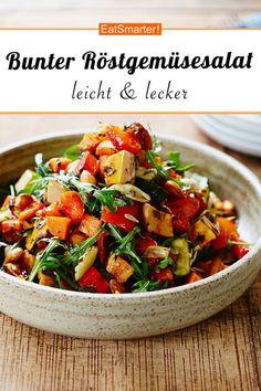 Healthy Salad Recipes, Diet Recipes, Vegetarian Recipes, Chicken Recipes, Grilling Recipes, Roasted Vegetable Salad, Roasted Vegetables, Easy Salads, Easy Meals