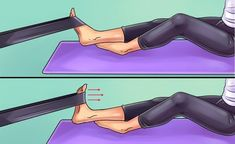 Here are six exercises to get rid of knee and foot pain forever - Tips and Tricks - Tips and Crafts Heel Pain, Foot Pain, Weak Ankles, Body Joints, Knee Exercises, Sore Feet, Thigh Muscles, Leiden, Physical Therapy