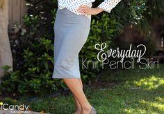 Everyday Knit Pencil Skirt Tutorial - iCandy handmade