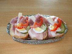 POHOŠTĚNÍ-obložené chlebíčky - Rendiny stránky Sushi, Ethnic Recipes, Sushi Rolls