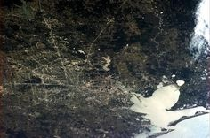 Houston, Texas.  Photo taken by crew aboard the International Space Station.  Chris Hadfield, Twitter