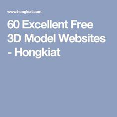 60 Excellent Free 3D Model Websites - Hongkiat