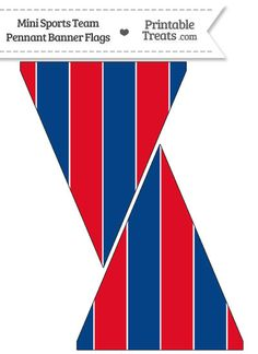 Cubs Colors Mini Pennant Banner Flags from PrintableTreats.com