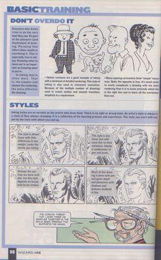 Scan from Wizard Magazine 146. Basic Training: Part 4 of 6 Joe Kubert shows how to ink. p96