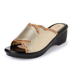 Large Size Rhinestone Peep Toe Block Sandals For Wsandalsomen Black  Sandals 8509c7301614