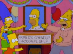 Let us celebrate the greatest accomplisher! #homersimpson #pic