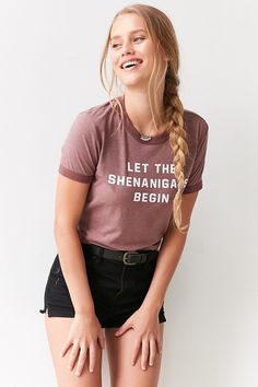 Truly Madly Deeply Shenanigans Ringer Tee