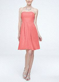 Your bridal party will lookelegant in this simply chic dress!  Sleeveless faille dresswith ultra-feminine sweetheart neckline.  Pleated waist flows into full skirtand features trendy side pockets.  Topersonalize your look, add a sash to create contrast.  Fully lined. Back zip. Imported polyester. Dry clean only. To protect your dress, try our Non Woven Garment Bag.