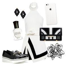 """Black vs White"" by lisannisa ❤ liked on Polyvore featuring DKNY, Finders Keepers, Aperlaï, Anna e Alex, STELLA McCARTNEY and Deborah Lippmann"