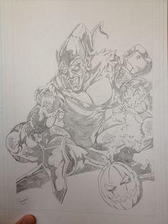Green Goblin Art Of Dan, Green Goblin, Comic Art, Cartoon, Comics, Cartoons, Comic, Comics And Cartoons, Comics And Cartoons