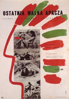 1957 poster by Wojciech Fangor for Apache
