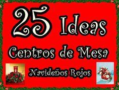 25 ideas de centros de mesa navideños en rojo