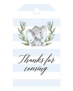 Blue Elephant Baby Shower Invitation Template Favor tag printable for boy baby shower by LittleSizzle Baby Shower Signs, Baby Shower Invites For Girl, Baby Shower Favors, Baby Shower Themes, Baby Boy Shower, Invitaciones Baby Shower Niña, Elephant Template, Baby Elefant, Elephant Theme