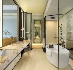 Bathroom At Keraton At The Plaza A Luxury Collection Hotel Tebet South Jakarta Indonesia Interior Design Interior Design Renovation For Residential In Menteng S Bathroom Spa, Bathroom Toilets, Diy Bathroom Decor, White Bathroom, Bathroom Interior, Modern Bathroom, Bath Decor, Bathroom Ideas, Bad Inspiration