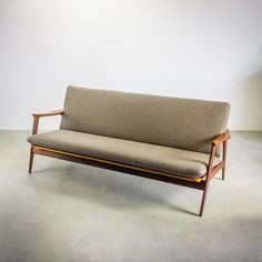 Furniture Buy Now Pay Later Furniture Ads, Small Furniture, Furniture Design, Mid Century Modern Sofa, Mid Century Modern Furniture, Sofa Design, Interior Design, Wooden Sofa Set, Small Sofa