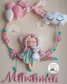 948 likes, 31 comments - Elif Buzlu Komanovalı ( on I . Felt Crafts Diy, Baby Crafts, Crafts For Kids, Arts And Crafts, Felt Wreath, Felt Garland, Sewing Toys, Baby Sewing, Felt Baby